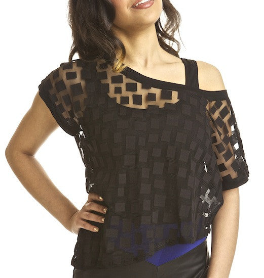 Asymmetric Mesh Cubid Top