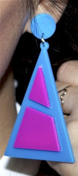 Neon Triangle Earrings
