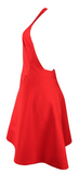 Lady in Red Backless Halter Dress - Red