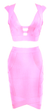 Sonia 2-Piece Pink Bandage Dress