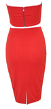 Kat 2-Piece Bustier Dress - RED
