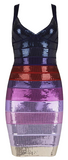 Monique Sequin Embroidered Bandage Dress - Purple