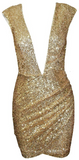 Arcadia Gold Sequined Mini Dress - More Colors