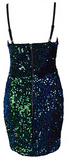 Nolita V-Neck Sequin Dress - Green