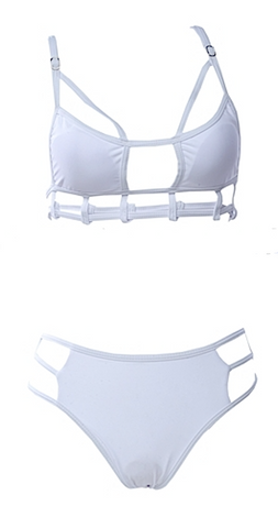 Max Cut Out Bikini - White
