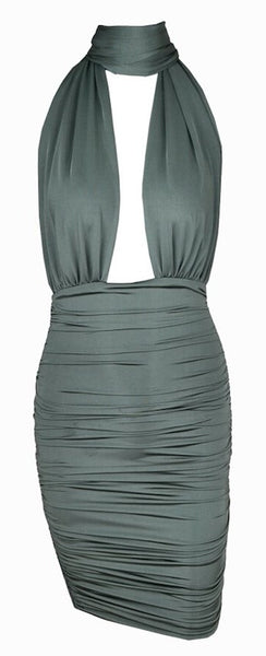 Regan Scrunched Multi-Way Dress - Sea Green