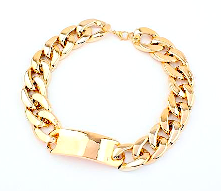 Chunky Link Chain Choker Necklace, Gold - LAST ONE!