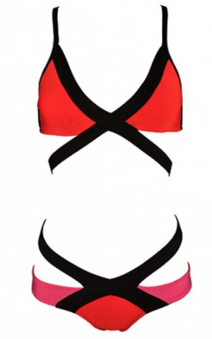 Mina Cut Out Bandage Bikini - More Colors