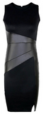 Harley Leather Wrapped Casual Dress - Black