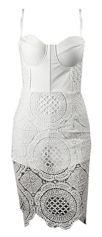 Allie Bustier Crochet Dress - More Colors