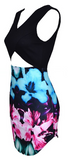 Kara Cut Out Multi Color Floral Dress