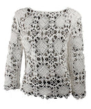 Pullover Crochet Top - White