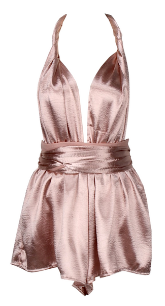 Minnie Satin Convertible Romper - More Colors
