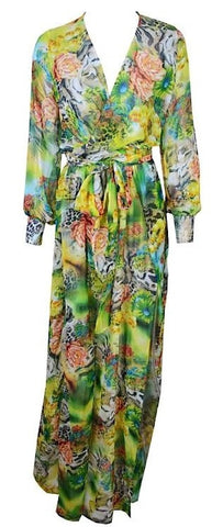 Pia Mia Floral Maxi Dress - Green