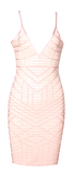 Kimora Reptile Print Bandage Dress - More Colors