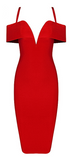 Luna Off Shoulder Knee Length Bandage Dress - More Colors