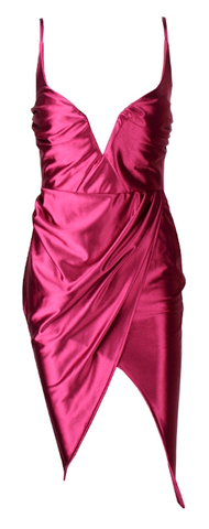Shari Satin Metallic Tulip Dress - More Colors
