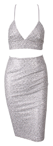 Liv Two Piece Sequined Dress Set - More Colors