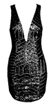Adriana Geometric Sequin Mini Dress - Black