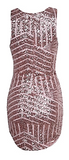 Adriana Geometric Sequin Mini Dress - Gold Pink