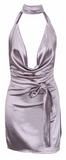 Mersadie Satin Collared Mini Dress - More Colors