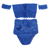 Franco Off Shoulder Crochet Tankini - More Colors