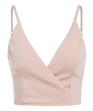 Ray V-Neck Cropped Tank Top - Pastel Pink
