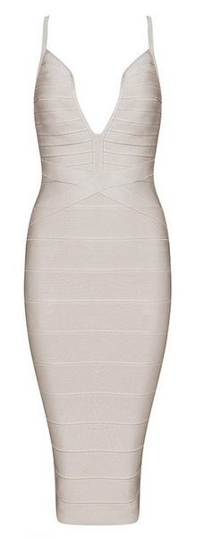 Stacy Deep Plunge V-Neck Bandage Dress - More Colors