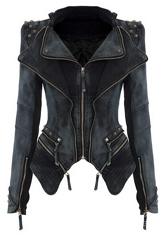 Riri Rivet Detail Denim Jacket - More Colors