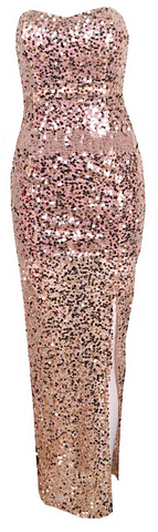 Porscha Strapless Sequined Maxi Dress - More Colors