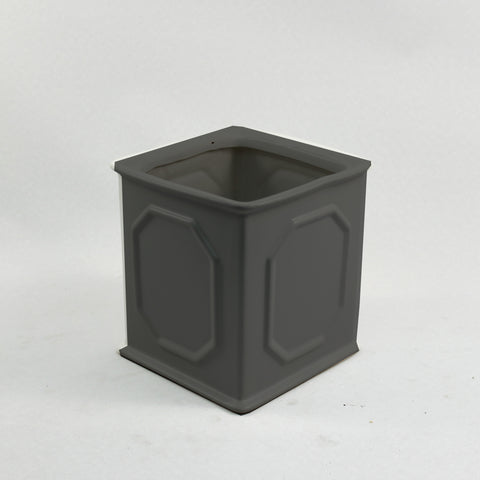 Orchid Square Pot with Design