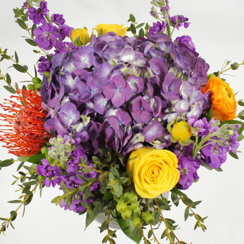 Purple & Orange Centrepiece