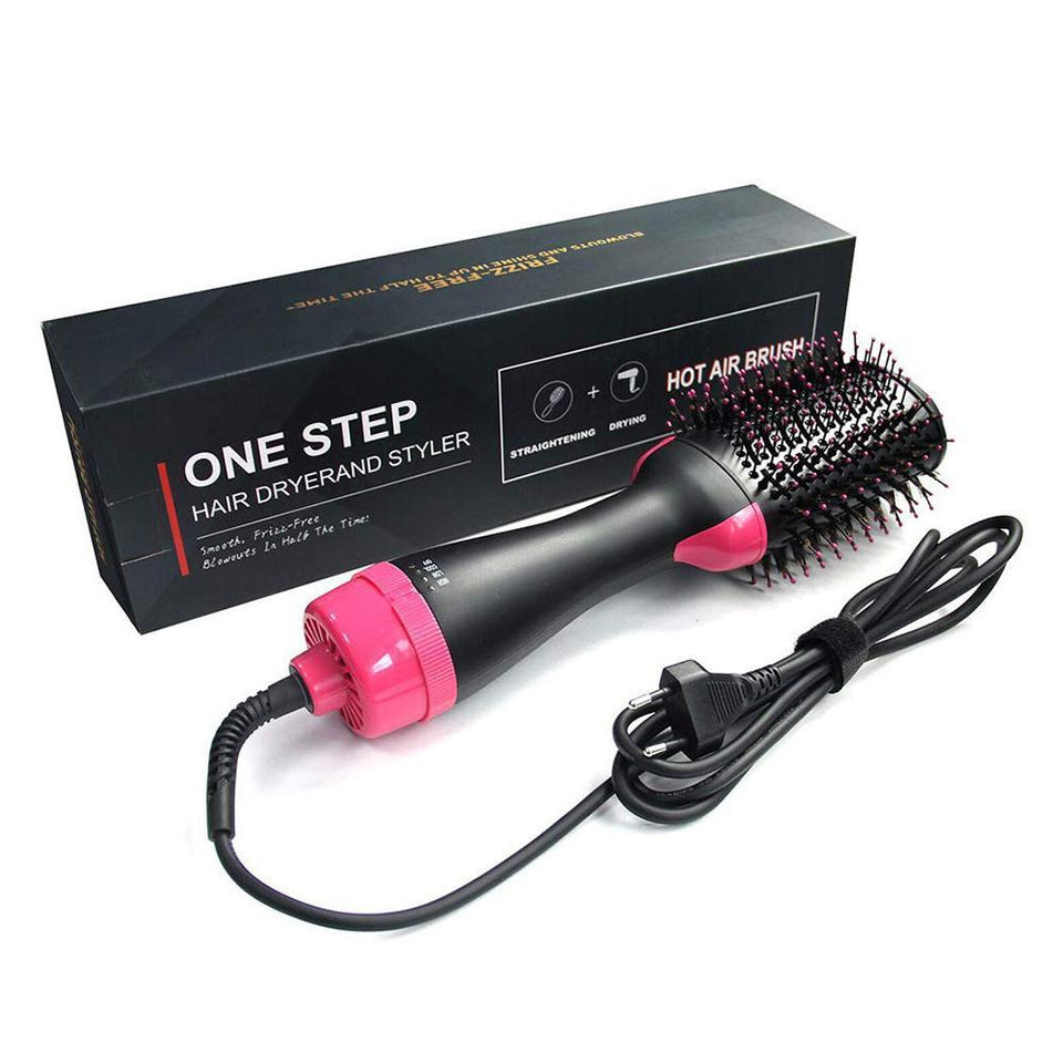 Electric Hair Dryer Comb & Hair Curling, Ionic Hot Air Brush Comb Straightener