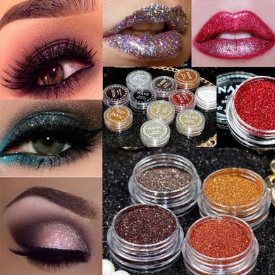 24 Colors Cosmetics Eyes Lip Face Makeup Glitter Shimmer Powder