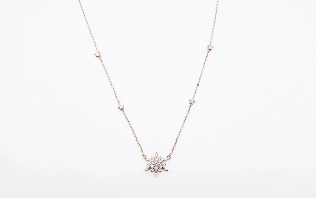 Arion jewelry flower pendant necklace