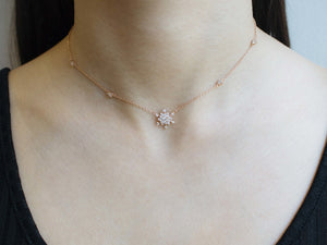 arion jewelry blossom necklace worn