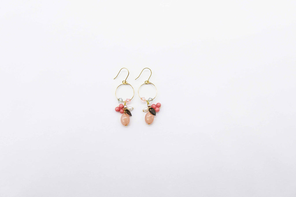 Arion jewelry gemstone earrings pink