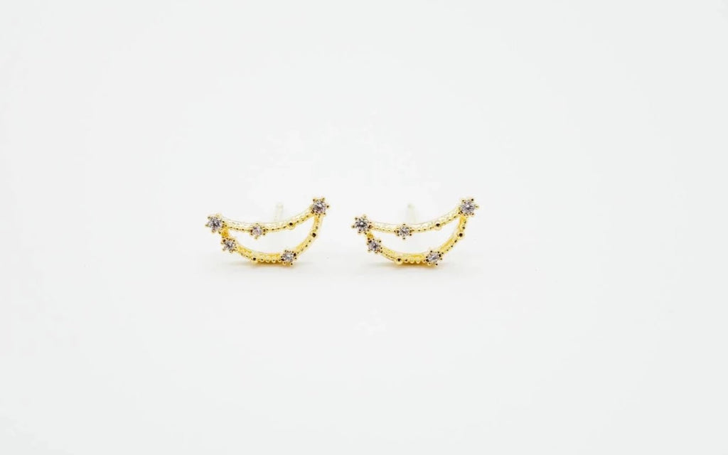 Arion jewelry Capricorn gold Earrings Zodiac