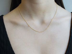 arionjewelry simple gold necklace without pendant