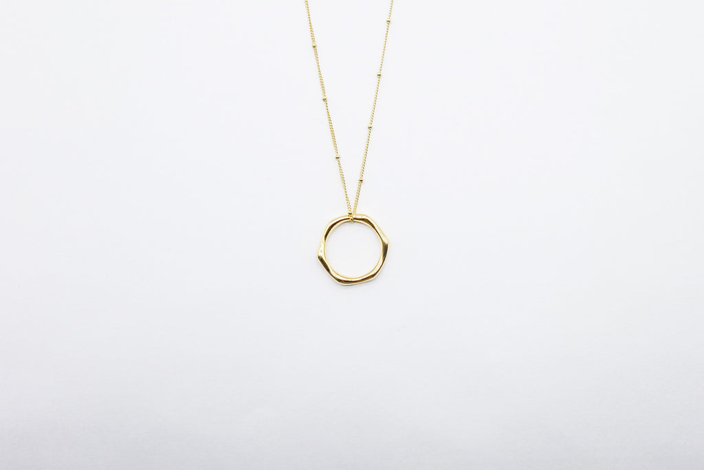 arion jewelry long gold chain necklace circle