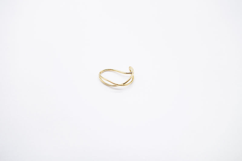 arion gold ear cuff twist