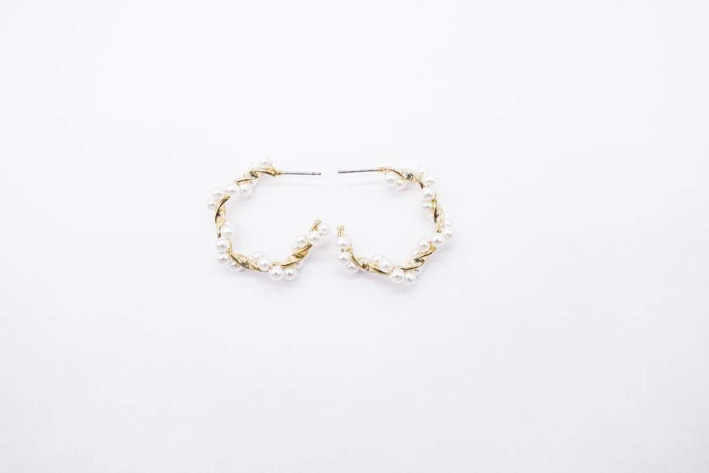 Arion Pearl hoops