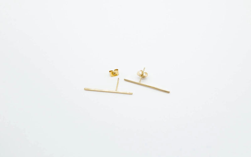 arion bar earring dandy straight line Ohrring minimalistic