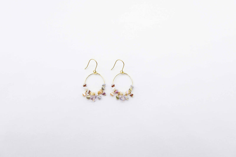 arion gemstone earrings