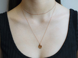 arion rose gold plated necklace set