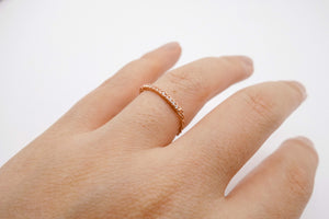 arion half eternity ring rose gold