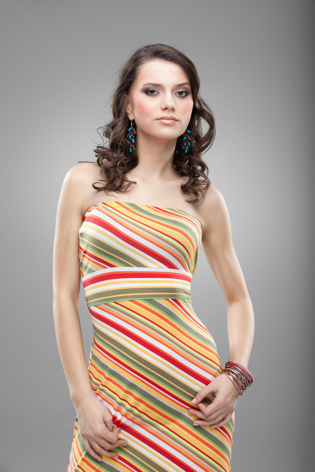 Striped colorfull dress