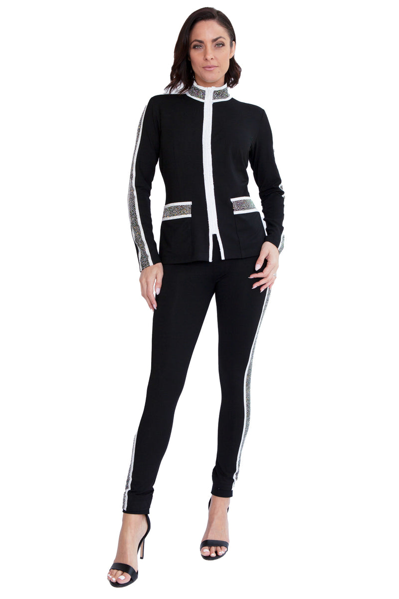 Crystal Snow Zip Front Jacket - W2500612