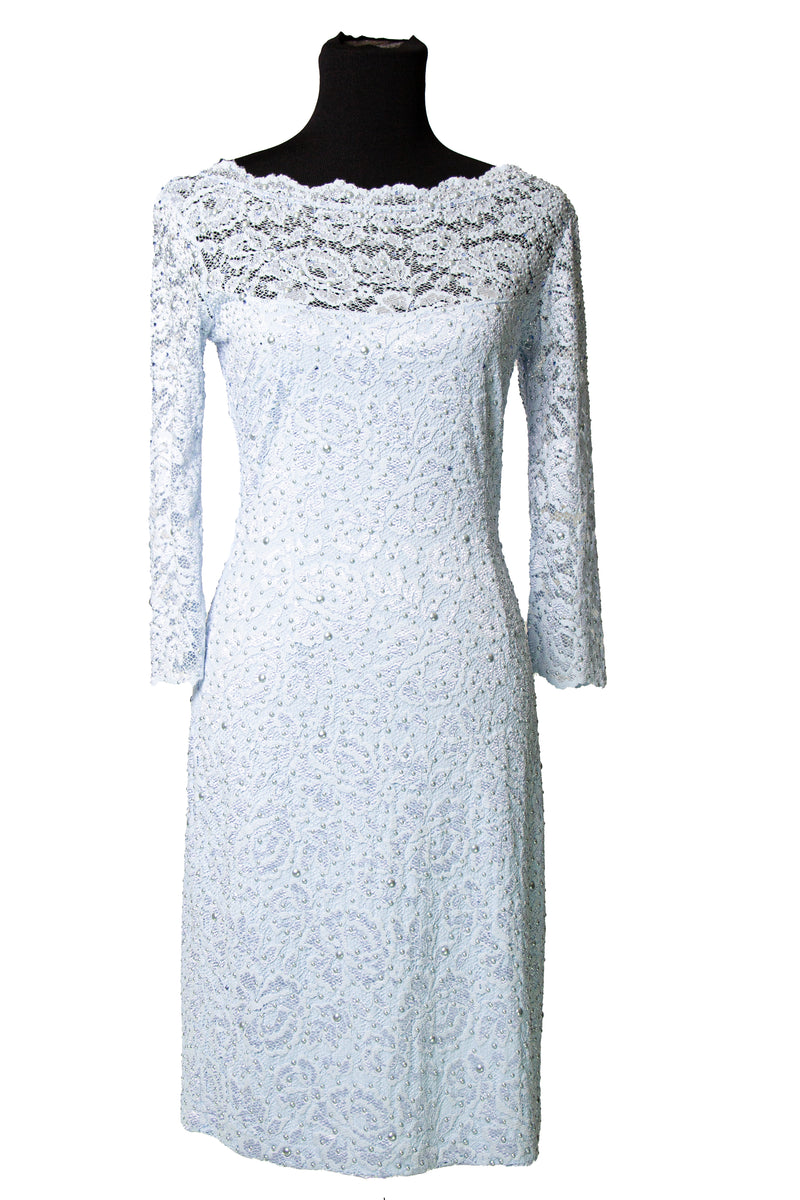 "Lace Pearl 37"" Dress - W142P005"