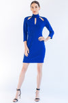 Resin 3/4 Sleeve Cocktail Dress - W1460908